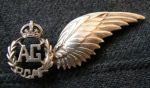 Badge– Nelson's Air Gunner badge from his brother Keith, Seeley's Bay.