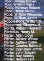 Memorial– Flying Officer Chetwin Hamre Popplewell is commemorated on the Bomber Command Memorial Wall in Nanton, AB … photo courtesy of Marg Liessens