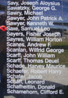Memorial– Flying Officer Samuel Leo Saxe is also commemorated on the Bomber Command Memorial Wall in Nanton, AB … photo courtesy of Marg Liessens