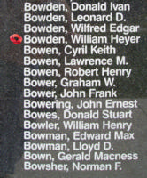 Memorial– Flight Sergeant William Heyer Bowden is also commemorated on the Bomber Command Memorial Wall in Nanton, AB … photo courtesy of Marg Liessens