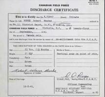 Discharge Certificate– Submitted for the project, Operation Picture Me