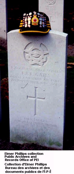 Grave marker for F.R.L. Gates