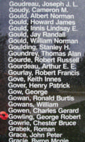 Memorial– Flight Sergeant George Robert Gowling is also commemorated on the Bomber Command Memorial Wall in Nanton, AB … photo courtesy of Marg Liessens