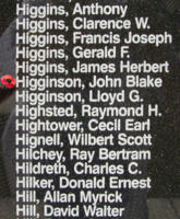 Memorial– Flight Sergeant John Blake Higginson is also commemorated on the Bomber Command Memorial Wall in Nanton, AB … photo courtesy of Marg Liessens