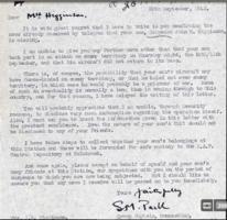 Letter– Letter to mother from Group Captain on 20 September 1942