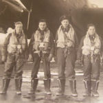Photo of John Klem– John's Crew Mates. L-R -  Kitchener Seaman, Tom Foley, P.A. Pinkey Stanfield, Sam Rosu and Tom Lawrence. Submitted on behalf of Ken Rosu-Myles by Operation Picture Me.