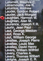 Memorial– Flight Sergeant Harmon Wendellyn Laughlan is also commemorated on the Bomber Command Memorial Wall in Nanton, AB … photo courtesy of Marg Liessens