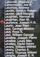 Memorial– Flight Sergeant Joseph Fernand Rolland Laurence is also commemorated on the Bomber Command Memorial Wall in Nanton, AB … photo courtesy of Marg Liessens