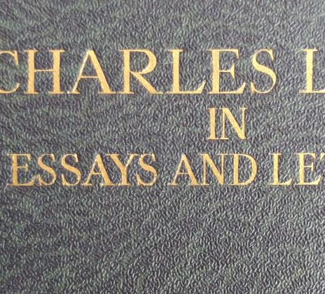 Document– The book of Charles Lamb essays, once in the possession of Donald John McDonald