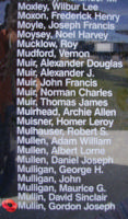 Memorial– Flying Officer Gordon Joseph Mullin is also commemorated on the Bomber Command Memorial Wall in Nanton, AB … photo courtesy of Marg Liessens