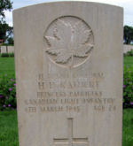 Grave Marker– Gravestone of Cpl H.D. Rathert in the Assisi War Cemetery, Near Assisi, Italy.