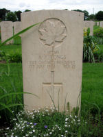 Grave Marker– Gravestone of Capt A.F. Tongs in the Assisi War Cemetery, Near Assisi, Italy.
