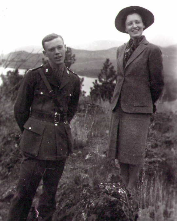 Photo of Hugh Archibald Cooke– Hugh with his sister Beatrice. Submitted for the project, Operation Picture Me
