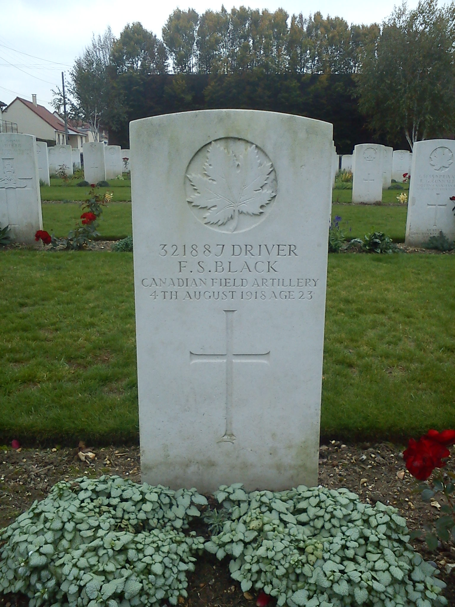 Grave Marker– Picture of Longueau (FRANCE 80) cemetery - BLACK's grave