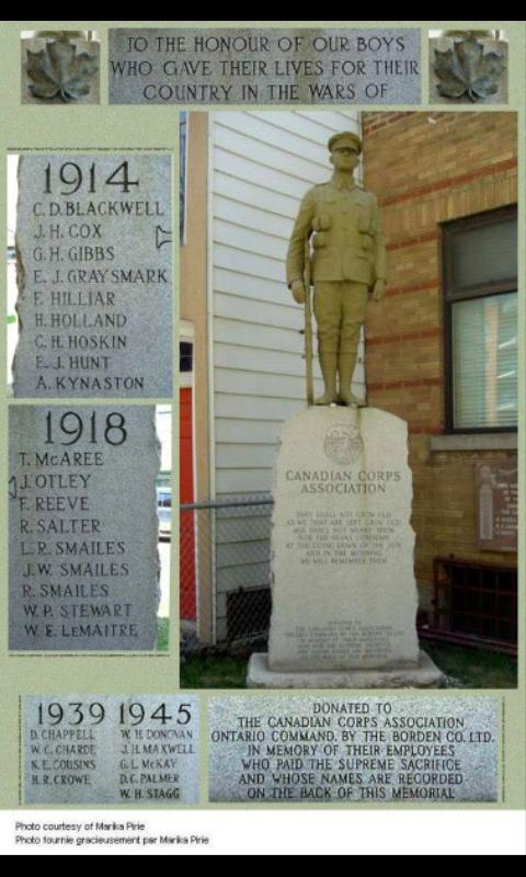 Memorial– Borden Co.