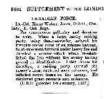 Newspaper Clipping– From The London Gazette issue 30681 for 10 May 1918.