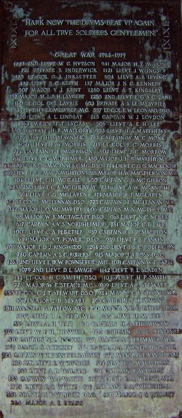Memorial– Memorial Arch, Royal Military College, Kingston