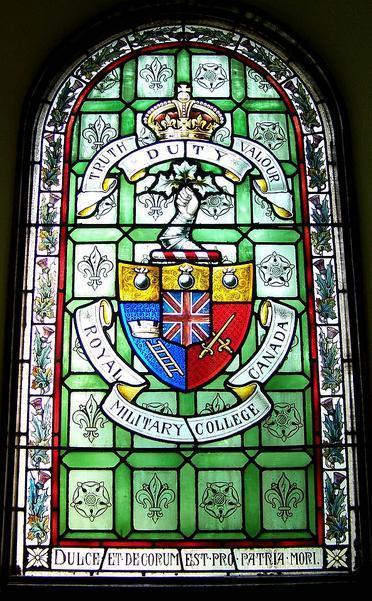 Memorial– Memorial window, Royal Military College, Kingston