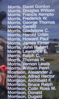 Memorial– Warrant Officer Class II William Penri Morris is also commemorated on the Bomber Command Memorial Wall in Nanton, AB … photo courtesy of Marg Liessens