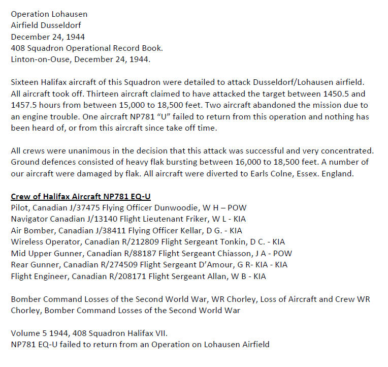 Details of the Crash