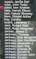 Memorial– Flying Officer Ivan Andrew Isfeld is also commemorated on the Bomber Command Memorial Wall in Nanton, AB … photo courtesy of Marg Liessens