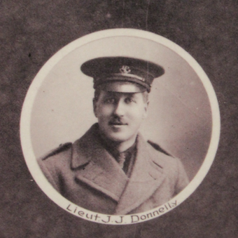 Photo of JAMES JOHN DONNELLY– In memory of the men and women from Newfoundland who went away to war and did not come home. From the  Rooms Archives and Museum St Johns Newfoundland. Submitted for the project, Operation Picture Me