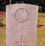 Grave Marker– Picture was taken approx 1967/68 by my brother Gerald Casselman when he was travelling while on a tour of duty in Germany with the Canadian Army.