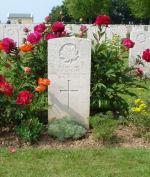Grave Marker– Headstone of L/Bdr G.E.L. Clark aken on June 5th, 2007 by  Gavin S. Mills