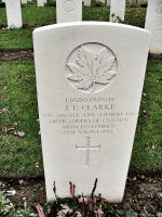 Grave Marker– The grave marker (2010) at the Beny-sur-Mer Canadian War Cemetery located outside Reviers, about 4 kilometres from Juno Beach in Normandy, France. May he rest in peace. (K. Falconer & J. Stephens)
