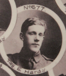 Photo of EDWARD HARDY– In memory of the men and women from Newfoundland who went away to war and did not come home. From the  Rooms Archives and Museum St Johns Newfoundland. Submitted for the project, Operation Picture Me