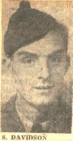 Photo of Samuel Davidson– Corporal Davidson enlisted in the 2nd (Res) Bn of the Queen's Own Rifles of Canada in 1942 and subsequently joined the 1st Battalion in England. He was in Charlie Company and was killed on D-Day between Bernières-sur-mer and Hill 80 (Anguerny).