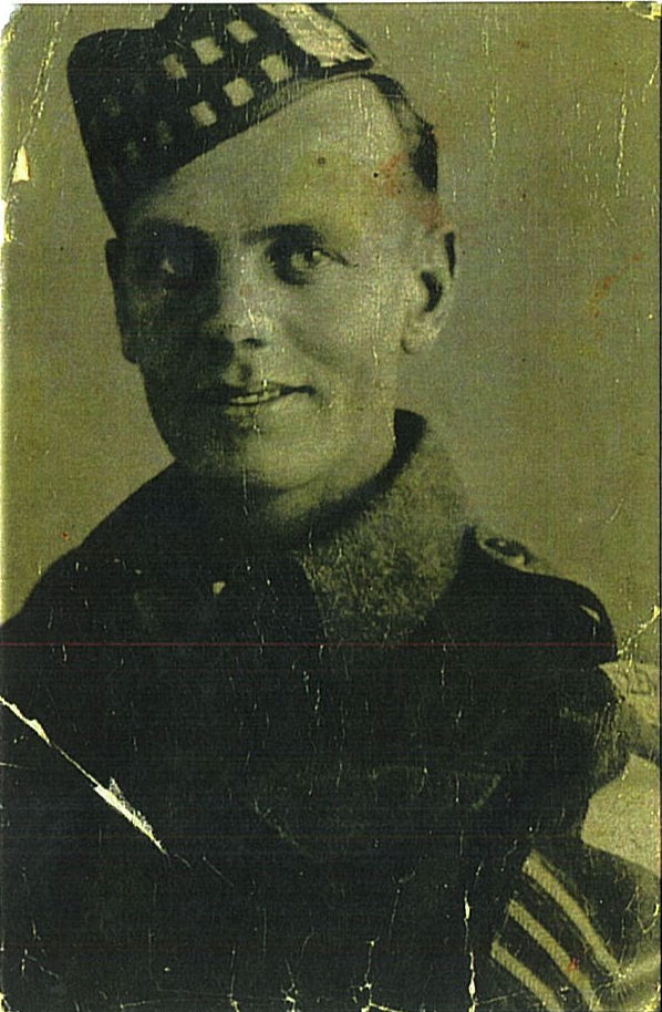 Photo of Clarence Arthur Gibson– I am submitting a picture of my uncle Sergeant Clarence Arthur Gibson C53903 so that it can be displayed in the Canadian Virtual War Memorial website if accepted. I was unable to find a date as to when the photograph was taken but it is a true copy of the original.