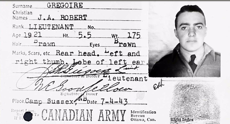 Id card– From WW2 service file