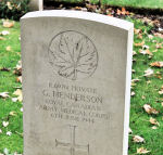 Grave Marker– A photograph of the headstone at the Beny-sur-Mer Canadian War Cemetery, located at Reviers, about 4  kilometres from Juno Beach in Normandy, France. May he rest in peace. (J. Stephens)