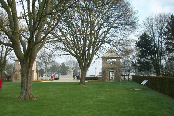 Entrance– Stone of Remembrance - Beny-sur-Mer Canadian War Cemetery - April 2017 … photo courtesy of Marg Liessens