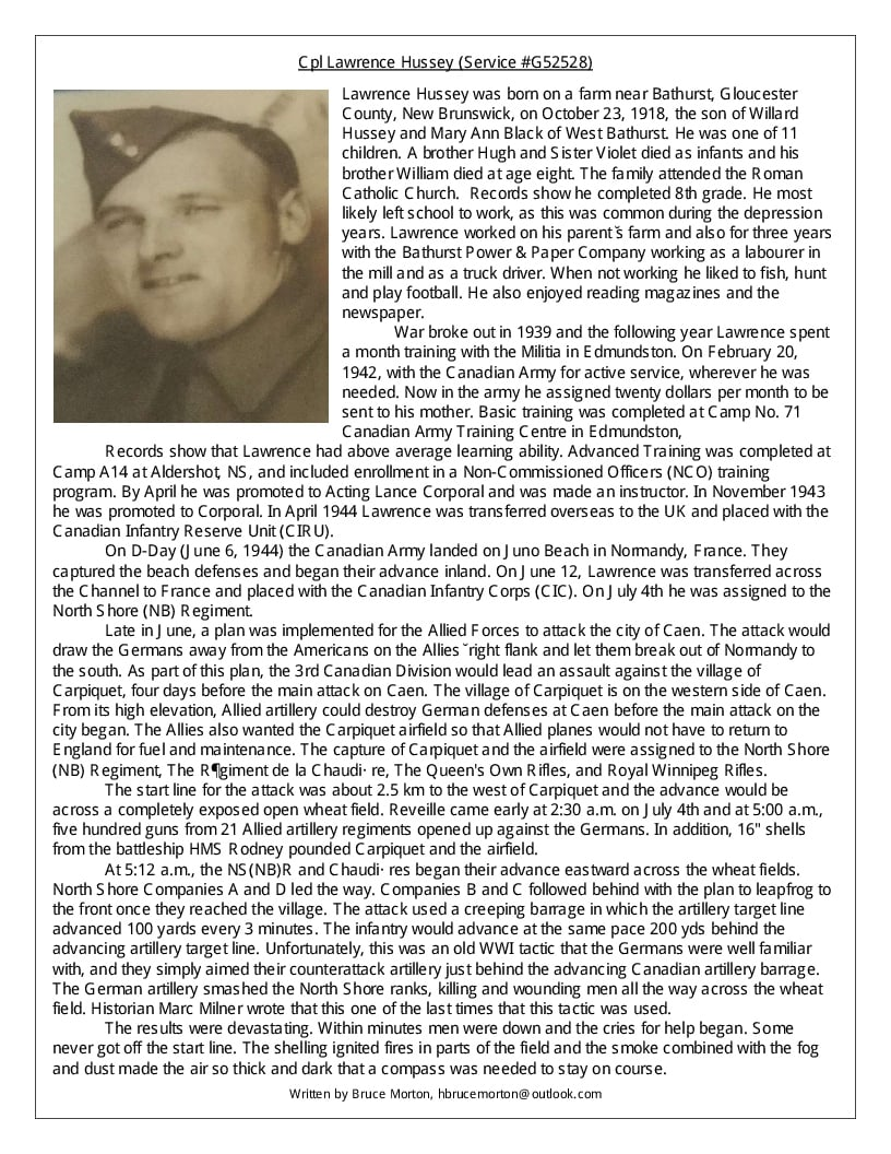 Biography– BIOGRAPHY  Written by Bruce Morton.   There are 2 Pages. This is Page 1.