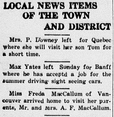 Newspaper Clipping– News of Mr & Mrs Hutton before the war