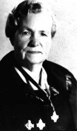 Photo of Sylvia Janet Kimmel (Mother)– Sylvia Janet Kimmel Silver cross Mother of 1961. She is shown with the three silver crosses.