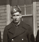 Photo of John Alfred Macdonald– Picture of Johnny Alfred Macdonald taken at St. Charles Train Station, PEI, as he shipped out in 1942.