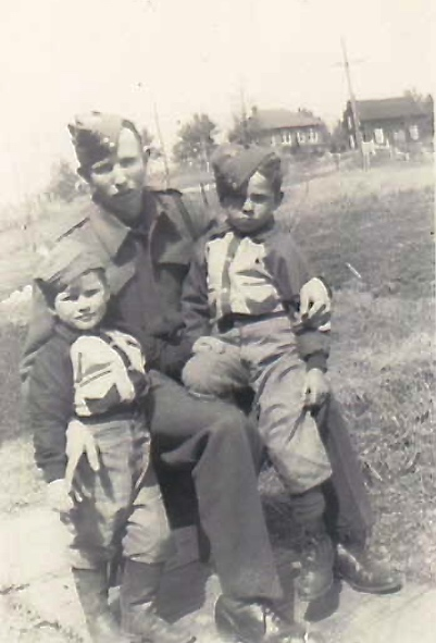 Photo of Donald Williamson MacKenzie– Donald with his nephews James and Denis. Submitted for the project Operation Picture Me
