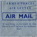 Letter– This is the front of the letter which my great uncle wrote 7 days before his death on June 6th, 1944.