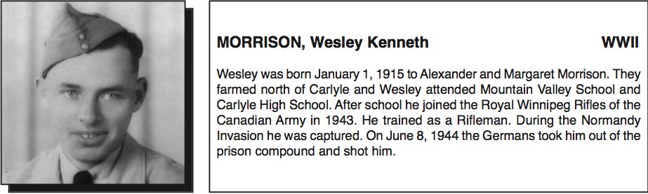 Photo of Wesley Morrison