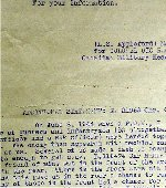 Letter– One of the three survivors of the killing was an RCA Gunner named Clarke. His statement explains what happened.  Source: Whitehouse via Archives Canada
