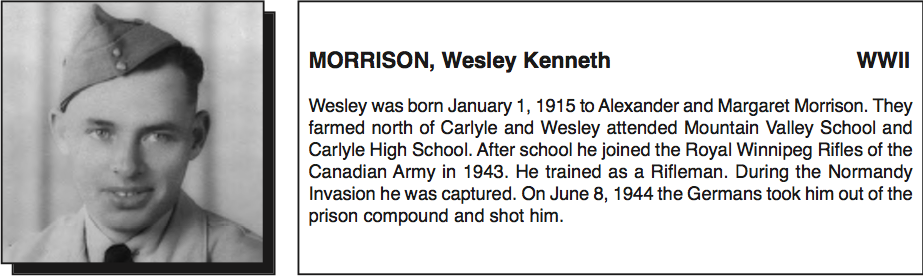 Photo of Wesley Morrison– Submitted for the project, Operation: Picture Me