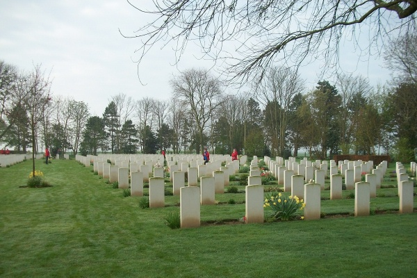 Cemetery– Beny-sur-Mer Canadian War Cemetery - April 2017 … photo courtesy of Marg Liessens