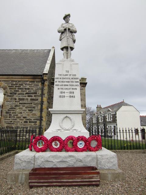 War Memorial– War Memorial at Portsoy, Aberdeenshire, Scotland. Image taken 28 March 2015 by Tom Tulloch.