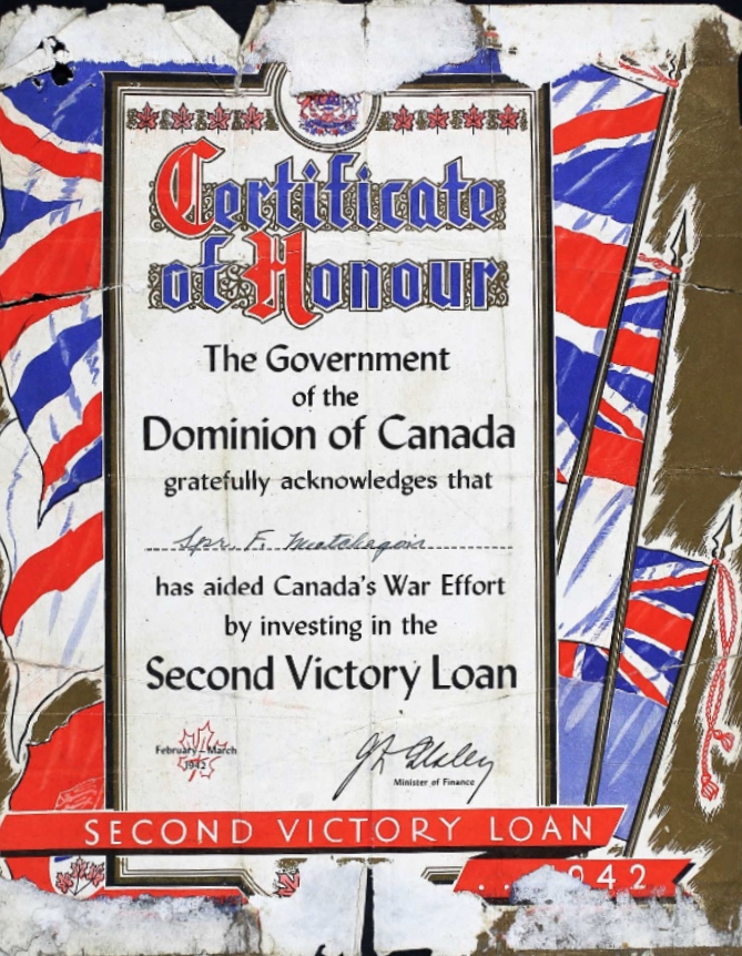 Certificate of honour– Submitted for the project Operation Picture Me