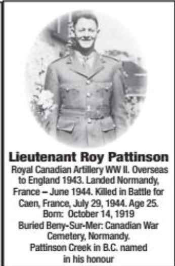 Photo of ROY PATTINSON– Submitted for the project, Operation Picture Me