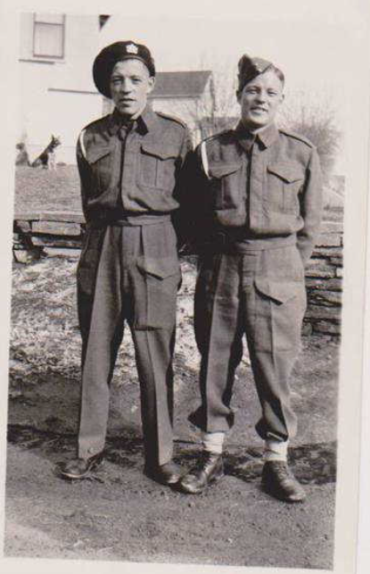 Photo of LLOYD LESLIE PAULSON– L- R Lloyd and Cecil. Submitted for the project Operation Picture Me