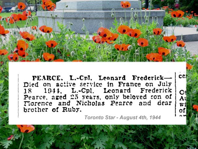 """Newspaper Clipping– """"Deaths on Active Service"""" - newspaper column."""